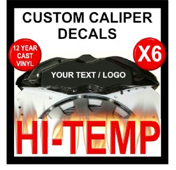 CUSTOM DESIGN HIGH TEMPERATURE BRAKE CALIPER DECAL SET